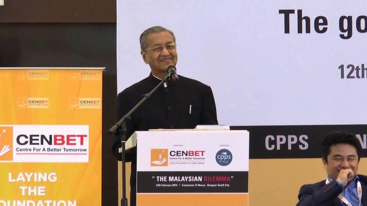 """The Malaysian Dilemma"" - Talk and Dialogue with Tun Dr Mahathir Mohamad..."