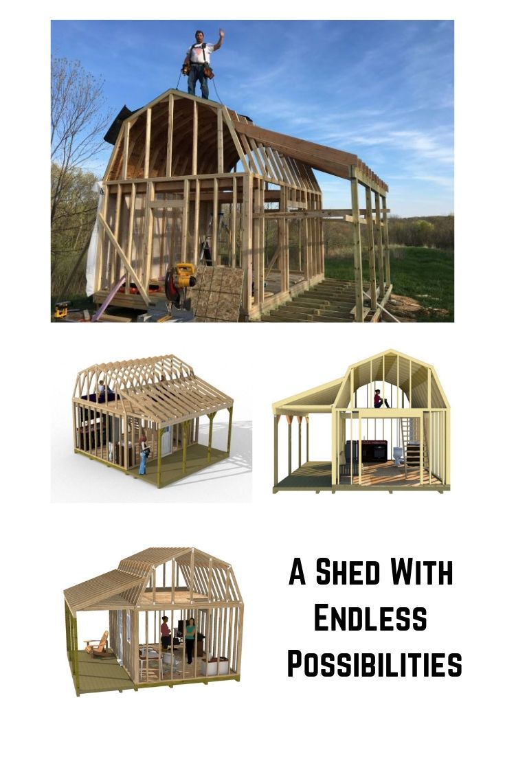 12x16 Barn With Porch Plans Barn Shed Plans Small Barn Plans Shed Plans Wood Shed Plans Small Barn Plans