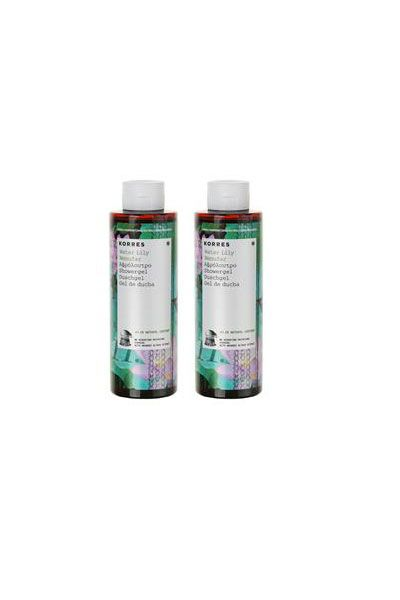 Korres Showergel Water Lily 1+1 FREE 2x250ml NEW SCENT  Fresh, delicate scent of water flowers.  http://bit.ly/QUzwj5
