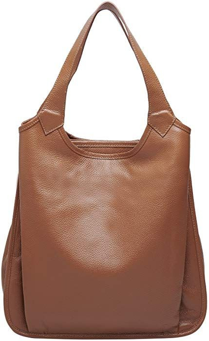 Amazon.com  BOYATU Womens Tote Real Leather Handbag for Ladies Large  Capacity Shoulder Purse (Brown)  Clothing 9801165a3e3a5