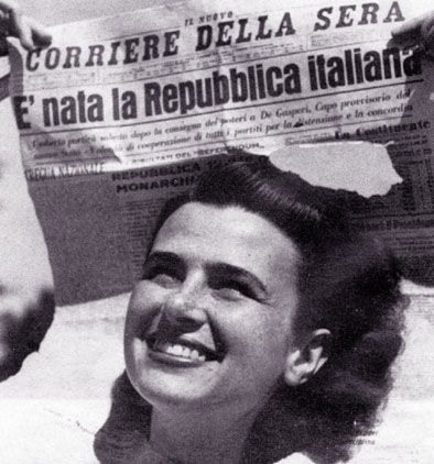 Nascita della Repubblica italiana, Corriere della Sera.