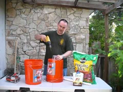 ▶ $7 Dollar Self Watering Bucket - DIY How-To make Each Container $1 - $7 - YouTube