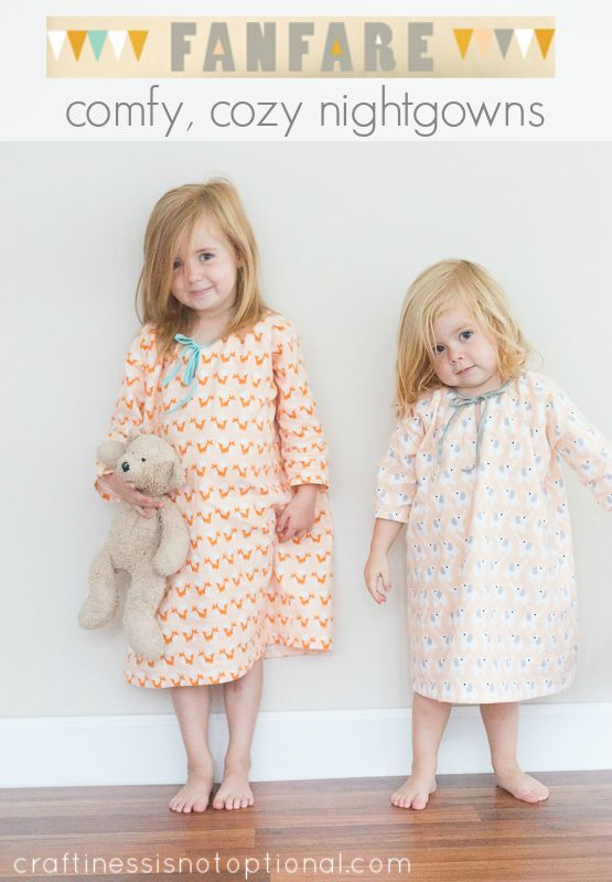 Holiday Pajamas for Girls! girl's nightgown sewing pattern     I know what you're thinking! It's almost holiday time and what pajamas are y...