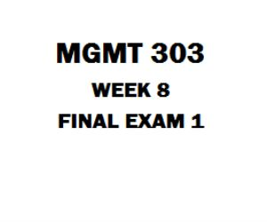 MGMT 303 Final Exam 1 1. (TCO1) A CEO of a local newspaper has noticed that the advertising and subscription revenue has been decreasing. The CEO sets a goal of stopping the decline. The CEO is engaged in 2. (TCO 2) State supported universities receive money from state tax payers. Harvard University's endowment is so large that Harvard is guaranteed significant income just from the interest the fund generates. The ____ dimension of these competitors is different. 3. (TCO 2) The expiration of