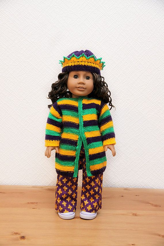 Mardi Gras outfit for American Girl 1 by StassyDodge on Etsy, $30.00