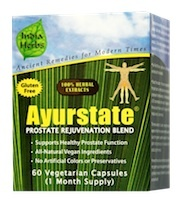 Ayurstate for Prostate Care Ayurstate supports prostate function by ensuring healthy estrogen / testosterone balance.
