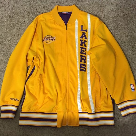 Lakers jacket Worn maybe a handful of times in like new condition.size xxl Mitchell & Ness Jackets & Coats