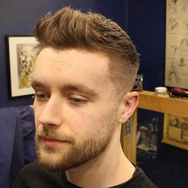 Short Textured Fade Haircut For Men With Front Cowlick Video Mens Haircuts Fade Haircuts For Men Boys Haircuts