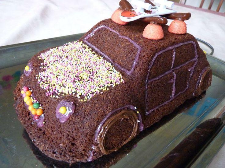 Gateau 3D coeur coulant de chocolat en forme de voiture , Aux Délices de  Frimousse