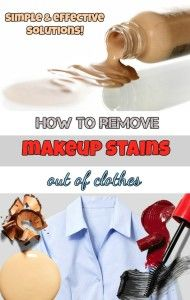 Learn how to remove makeup stains out of clothes.