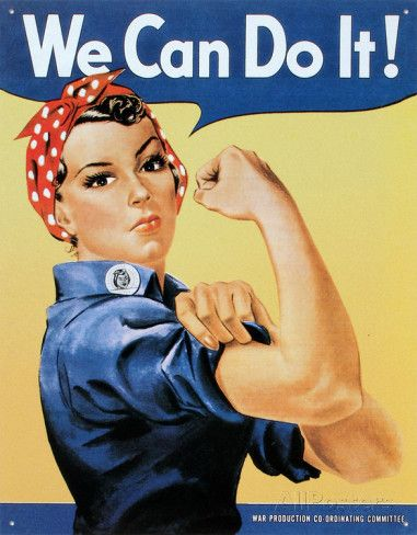 Rosie la riveteuse Plaque en métal sur AllPosters.fr