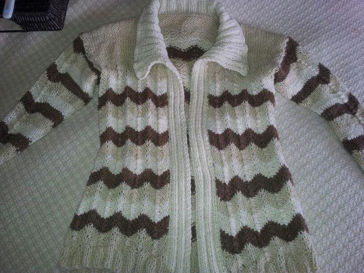 Chaleco lana de oveja tejido a palillos