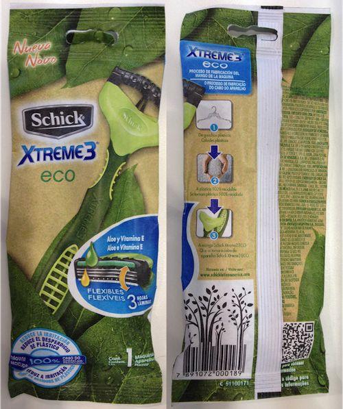 #NuggetsdeMercadeo - La responsabilidad ambiental y el green marketing en la nueva Schick Xtreme 3 Eco.