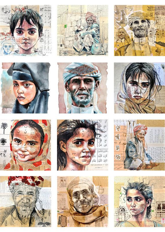 Set of 12 postcards Yemen by StephanieLedouxArt on Etsy, €20.00