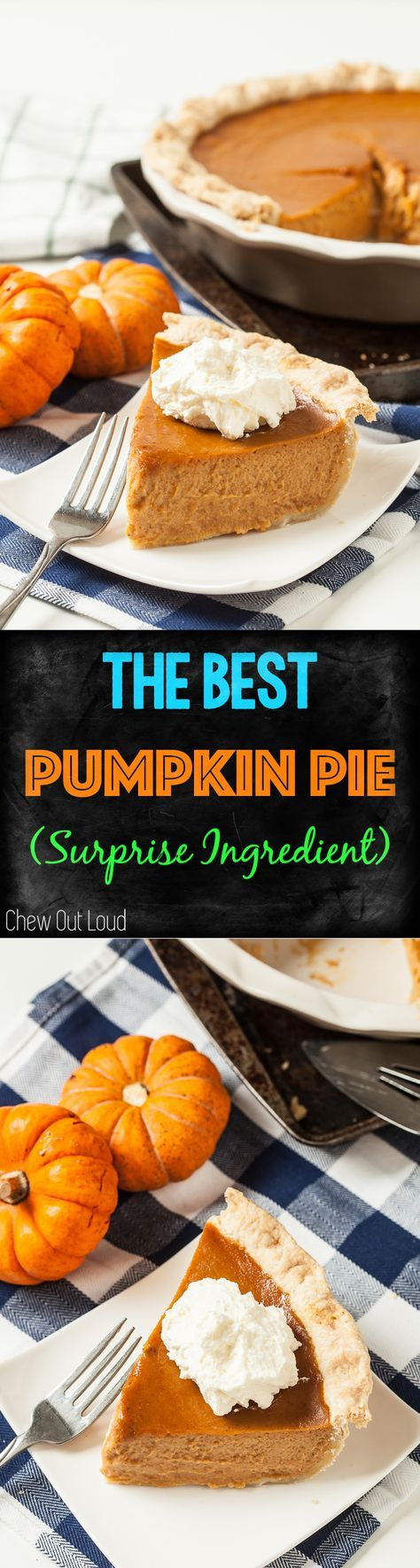 The BEST Pumpkin Pie Recipe for the holidays!