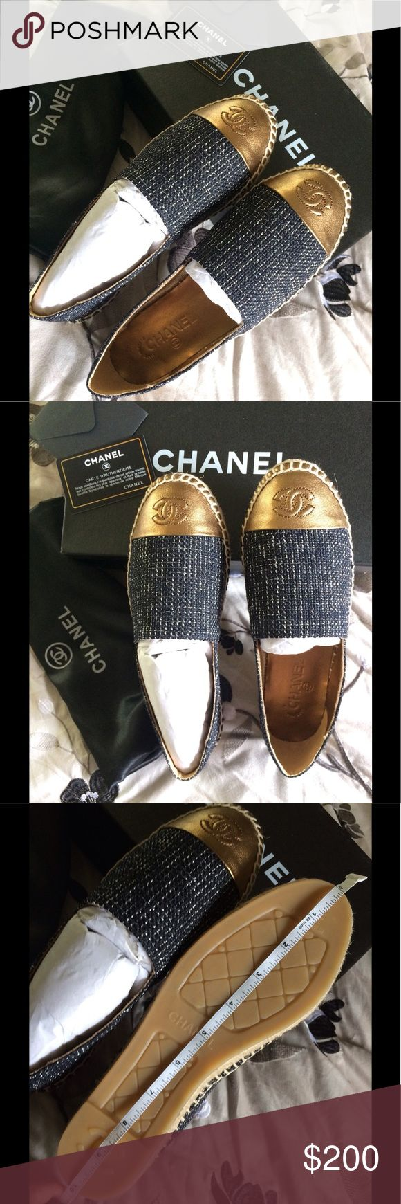 Chanel espadrilles PLEASE READ BEFORE BUY.                                    SAME DAY SHIPPING, COME WHIT DUST BAG , BOX, RUN SMALL SIZE , FIT LIKE 7 US (TAG SAID 8 ), PRICE REFLECT , HIGH QUALITY MATERIAL .                                                                 IF YOU HAVE A PROBLEM WHIT YOUR ORDER CONTACT ME BEFORE PLEASE , THANK YOU :). PRICE IS FIRM CHANEL Shoes Espadrilles