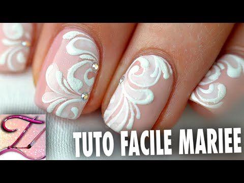 Tuto nail art Facile idée Mariage sur ongles courts en vernis ou en gel https://www.youtube.com/watch?v=dymLzvBkaCQ&feature=em-uploademail