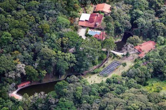 O sítio de Lula, cuja reforma foi paga pela OAS. ~ FB noticias