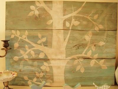 tree painting on wood