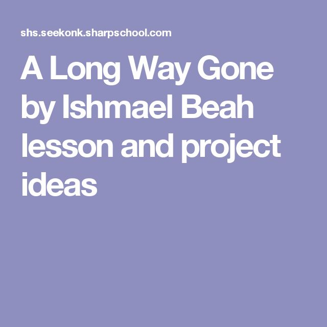 notes a long way gone ishmael beah essay A long way gone – ishmael beah - notes chapter 2 notes the imagery in this  chapter  if you need a professional help, send us your essay question and our.