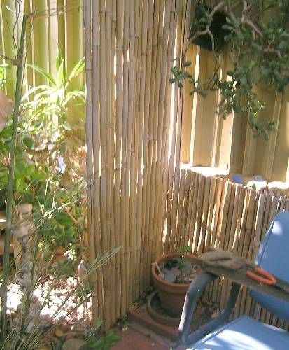 Smart ideas for outdoor privacy and backyard retreats for Outdoor bamboo privacy screen