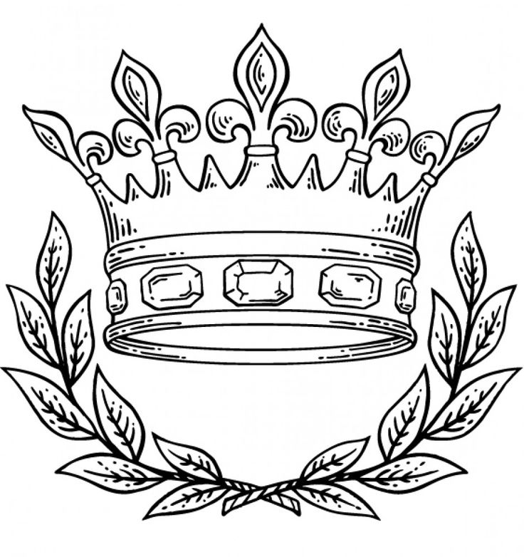 coloring pages with crowns - photo#33