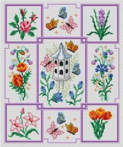 Jardin naturel. Tons of FREE CROSS-SITCH PATTERNS at this site: just found a site that has really easy to download embroidery patterns for free. It's http://club-point-de-croix.com/?code_avantage=CWcplRsmji  Plus, if you click on this link, http://club-point-de-croix.com/?code_avantage=CWcplRsmji  , you'll automatically receive a gift when you subscribe. I use this site all the time; there are hundreds of all different types of patterns, and there are new patterns added everyday.
