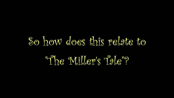 "Winter 2013 cohort member Vone's video on ""The Miller's Tale"" from Chaucer's Canterbury Tales."