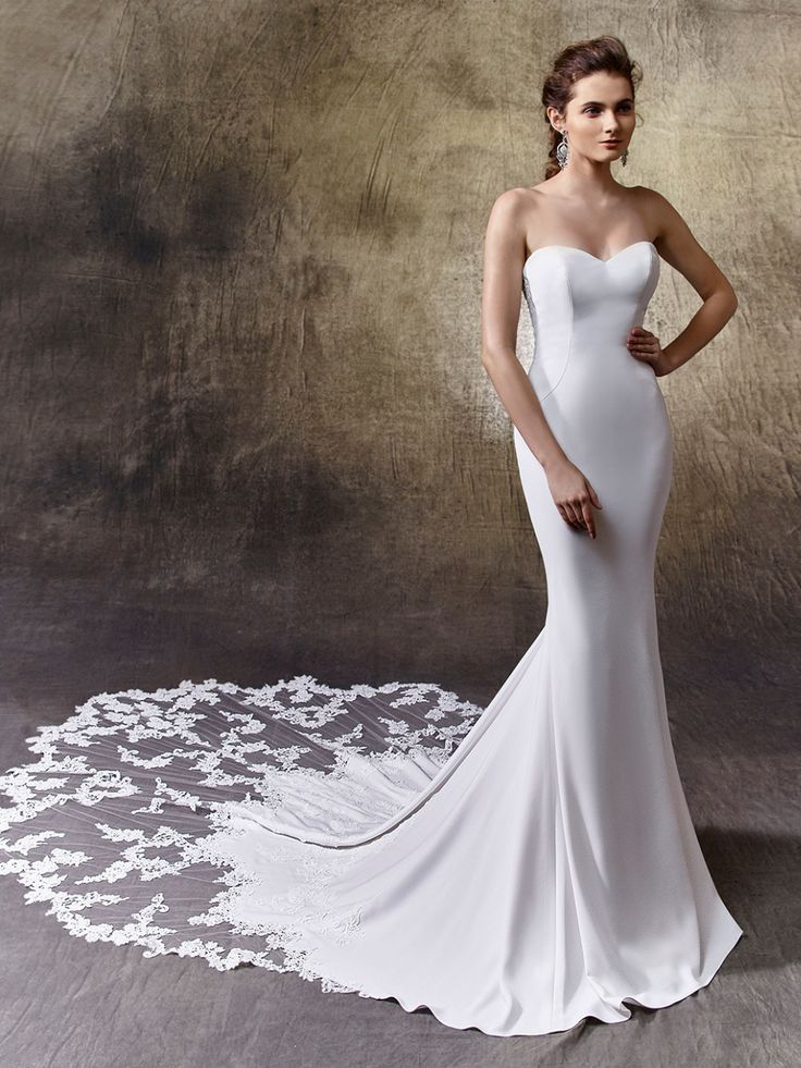 Find More Wedding Dresses Information about New Satin Appliques Long Wedding Dress 2017 Mermaid  ...