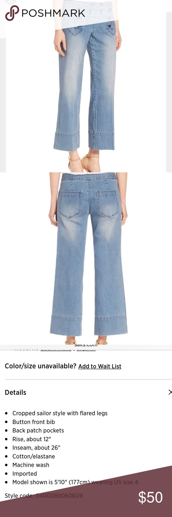NWT Michael Kors Cropped Sailor Jeans Super cute Cropped Flare jeans from Michael Kors with nautical elements. Looks killer with heels, but also pairs well with sandals or flats. Michael Kors Jeans
