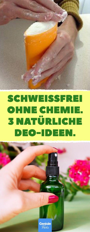 Schweißfrei ohne Chemie. 3 natürliche Deo-Ideen. Natürliches und duftendes De…