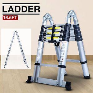 a folding 165ft aluminum multi purpose ladder telescoping telescopic extension