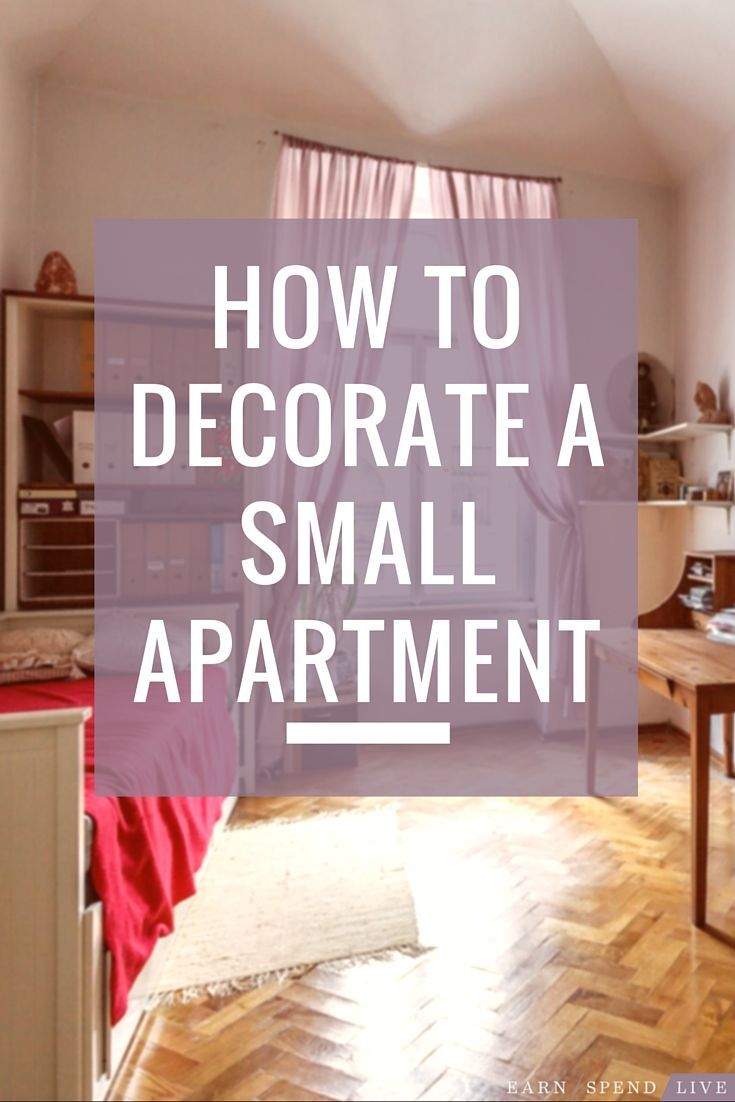 Cozy apartment living room design - How To Decorate A Small Apartment