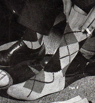 Argyle socks - free knitting pattern! Dat vintage...