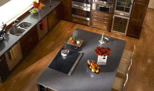 """Grey Countertops zodiaq (another quartzite product) """"storm grey"""". 