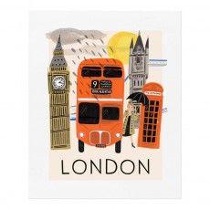 Poster Rifle Paper Londra - 28x35 cm
