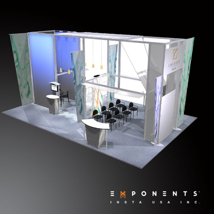 Custom Exhibition Stand Up : Modular booth design luminents exhibit is reconfigurable