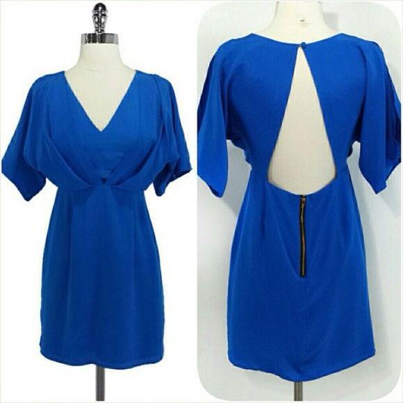 Yumi Kim 100% Silk Blue Cut Out Back Dress Size XS No flaws. In dry cleaning bag. Yumi Kim Dresses