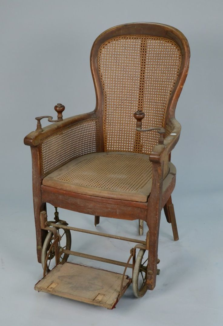Antique cane rocking chairs - Victorian Mahogany And Cane Seat Hand Crank Wheel Chair