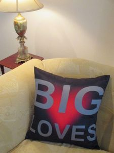 Big Loves on the Couch.  #throw pillows. Cushions and Covers by Chelsea Design NZ.