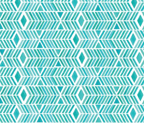 Watercolor Chevrons fabric by katieschrader on Spoonflower - custom fabric