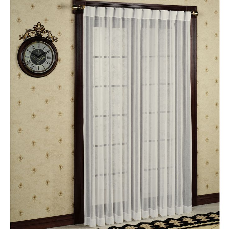 Lucerne Semi Sheer Patio Curtain Panels - I  like this look (wave pleat)