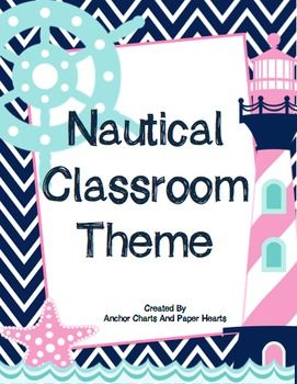 Nautical Classroom Theme Pack! Everything you need to create a fun space!
