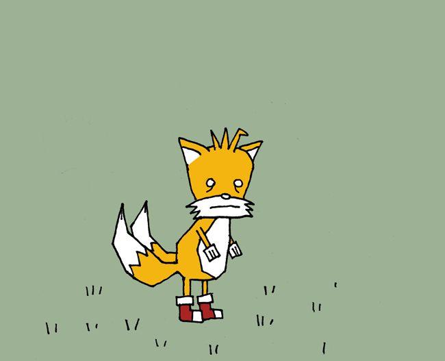 Sad Tails In A Field