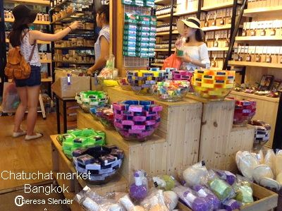 herbal soap and aromatic candles sell at chatuchak market