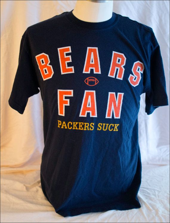 Vintage packers suck Chicago Bears t shirt by RunningWithMarbles, $25.00