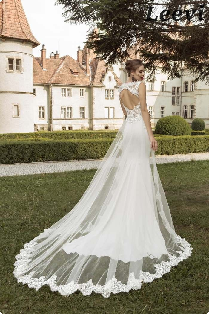 Vestidos De Noiva Sereia Vintage Detachable Skirt Backless Sheath Wedding Dress Stain Sexy Mermaid Long Tail Wedding Dresses