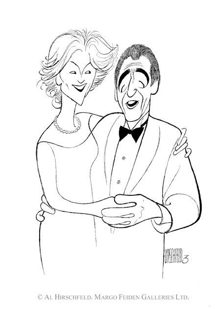 AL HIRSCHFELD'S portrait of Mr. & MRS. NORM CROSBY