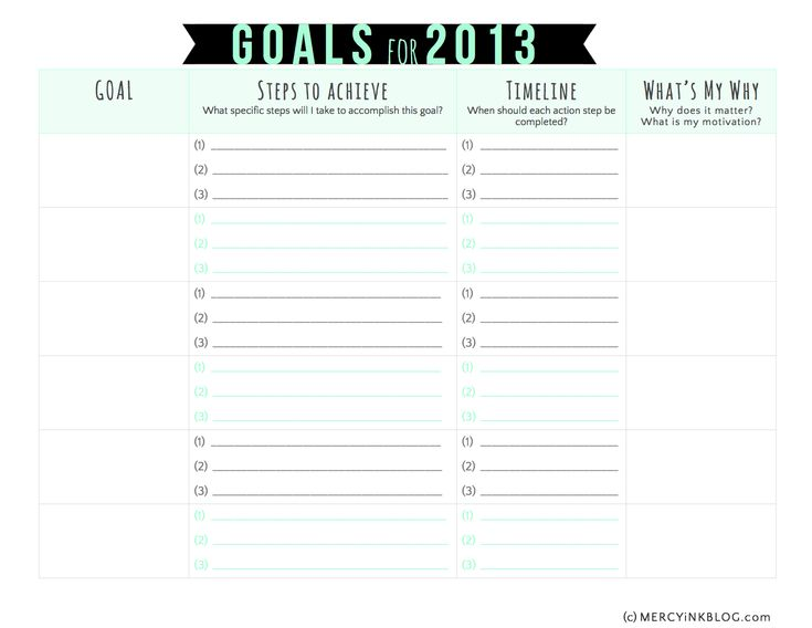 32 Best Goals Images On Pinterest | Goal Settings, Setting Goals