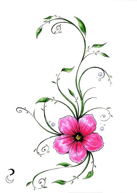 They are associated with change, transformation and freedom which are all part of the tropical flower tattoo designs, the stages that a girl go through in her life.